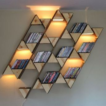 Bookshelf Ideas To Decorate Room And Organize ⊶ Via A2048 #HomeLibraryDesign