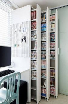 Bookshelfideas ⊶ Via Successfulworkplace #BookStorage