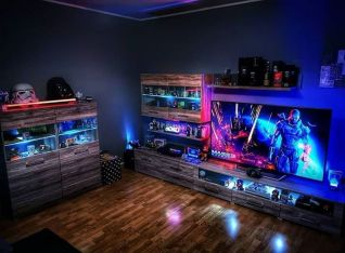 Check Out Full Collection ☼ Via Instagram #Gaming Room Setup #Quarto Gamer #Playstation Room