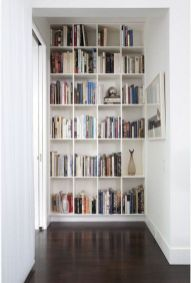 Clever Built Ins For Small Spaces ⊶ Via Apartmenttherapy #DreamLibrary