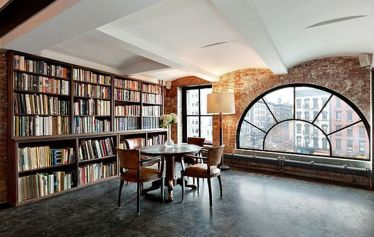 Contemporary Soho Residence With Indoor Pool ⊶ Via Homedit #BookStorage