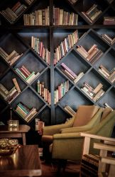 Cozy Reading Room Interior Ideas ⊶ Via Futuristarchitecture #HomeLibraryDesign