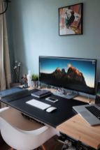 Home Office Designs With Office Desk ☼ Via Decoraiso #Ps4 Gaming Setup #Dream Rooms #Gaming Setup Xbox