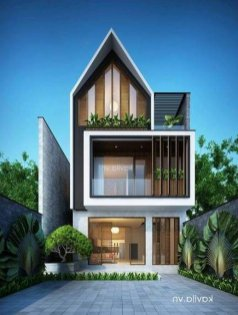House Facade Contemporary Modern Exterior ⊶ Via Womanthinking.glaminati #FacadeHouse