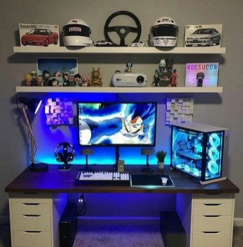 I Like This ☼ Via Instagram #Gaming Room Setup #Quarto Gamer #Playstation Room #xbox Room