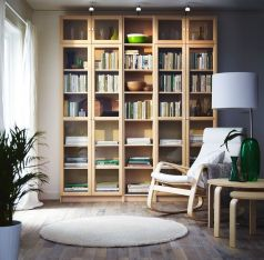 Ikea Billy Oxberg Bookcase Birch Veneer ⊶ Via Ikea #DreamLibrary