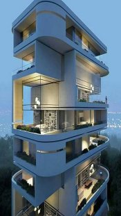 Modern Architecture Building Apartments ⊶ Via Mobmasker #FacadeArchitecture