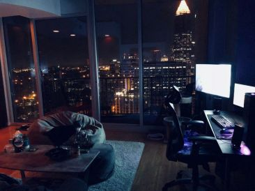 My Cozy Gaming Spot In The City Cozyplaces ☼ Via Reddit #Ps4 Gaming Setup #Dream Rooms #Gaming Setup Xbox