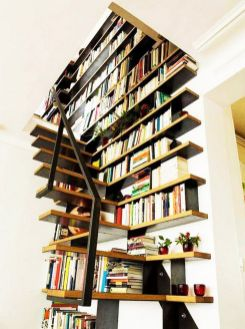 Over Clever Under Staircase Storage Space ⊶ Via Designrulz #BookshelfIdeas