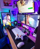 Overwhatch Setup Overwatch Pc Gaming Youtube ☼ Via Instagram #Ps4 Gaming Setup #Dream Rooms #Gaming Setup Xbox
