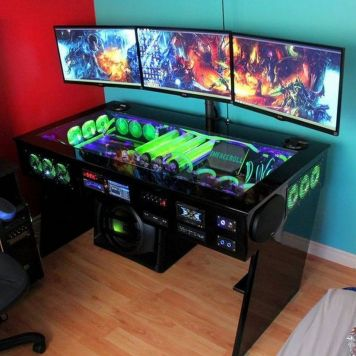 Ultimate List Of Diy Computer Desk Ideas ☼ Via Donpedrobrooklyn #Ps4 Gaming Setup #Dream Rooms #Gaming Setup Xbox