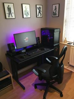 Updated Setup Compact Gaming Workspace ☼ Via Imgur #Ps4 Gaming Setup #Dream Rooms #Gaming Setup Xbox