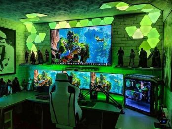 Video Game Room Ideas To Maximize Your Game ☼ Via Thedestinyformula #Ps4 Gaming Setup #Dream Rooms #Gaming Setup Xbox