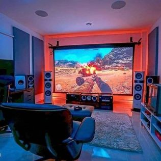 What Would Play Here By Thorashd ☼ Via Instagram #Gaming Room Setup #Quarto Gamer #Playstation Room #xbox Room