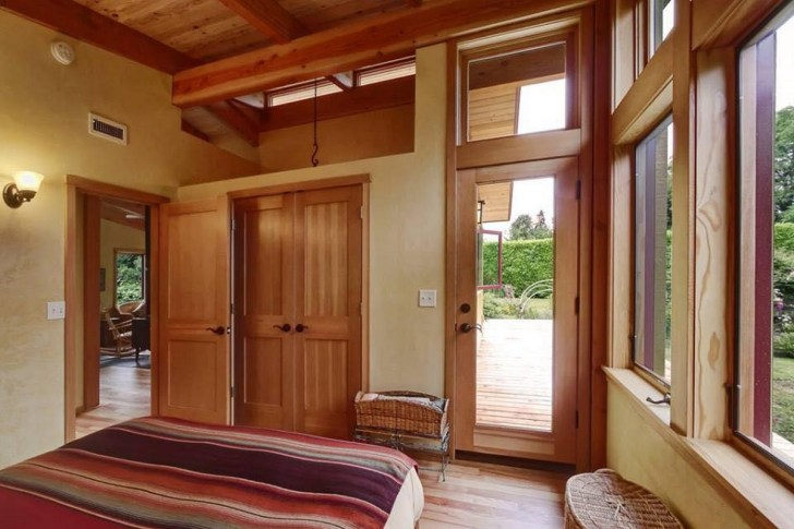 Wood House Interior And House Design With Floor Plan-10