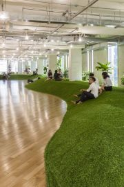 Green Office Spaces Simulate Parks To Promote - Designboom.com
