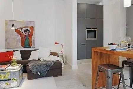 Un departamento pequeño con estilo nórdico