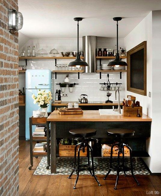 Decorar una cocina multicolor