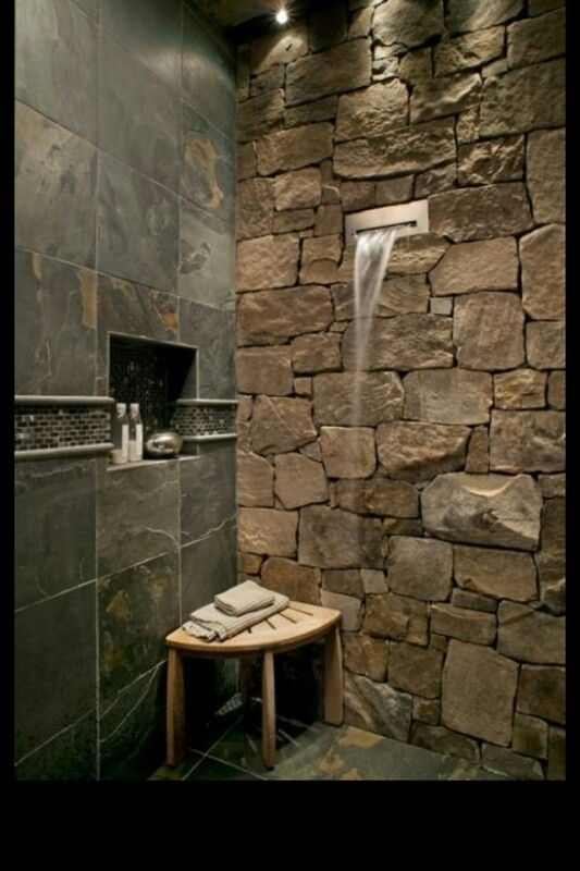 slate tiles bathroom wall | interior & exterior doors