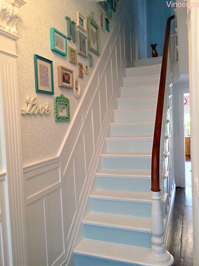 17 Incredible Shabby Chic Staircase Design Ideas