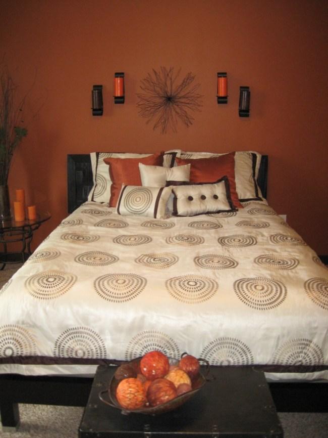 25 Sleek Orange Accents Bedroom Ideas | Interior God