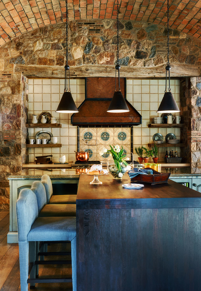 53 Impressive Kitchens With Brick Walls And Ceilings