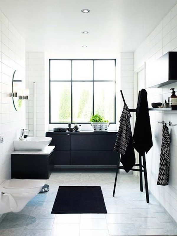 34 Classic Black And White Bathroom Design Ideas
