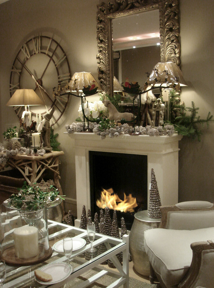27 Christmas Fireplace Mantel Decoration Ideas Interior God