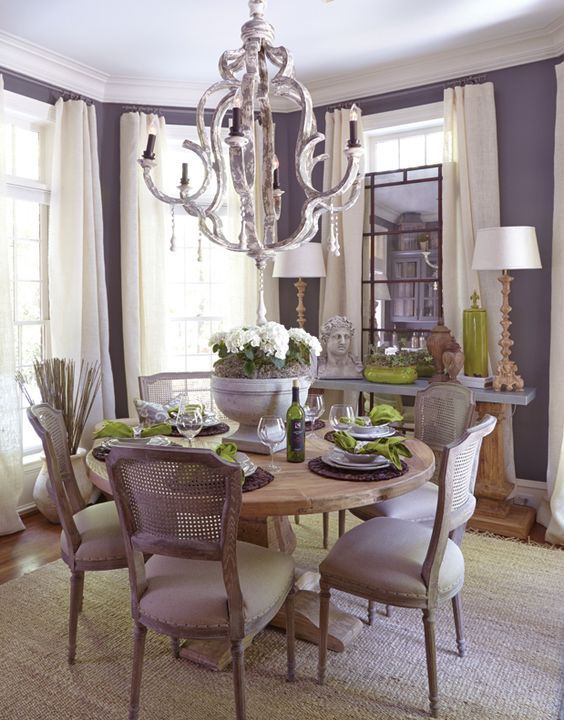 Purple Dining Room Decorating Ideas Novocom Top