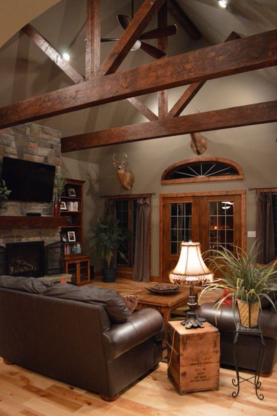 35 Living Room With Exposed Wood Beams To Try This Year Interior God