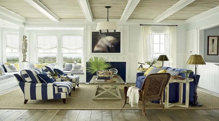 10 Coastal Inspired Living Room Interior Design Ideas