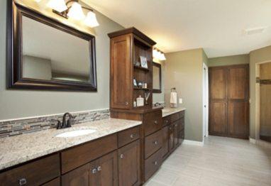 DarkWood-SeaGreen-Bathroom-vanity