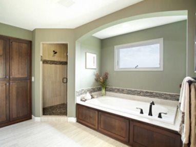 DarkWood-SeaGreen-Bathroom