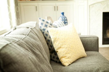 Yellow and Blue Cushions
