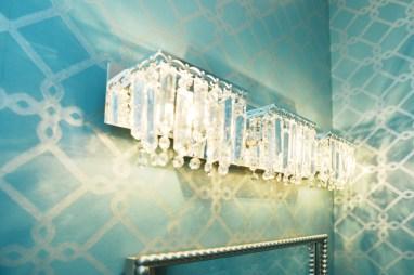 After: Powder Bath lights add glamour