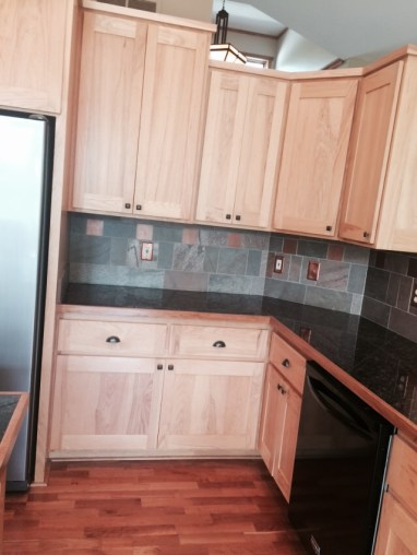 Before: the corner cabinets