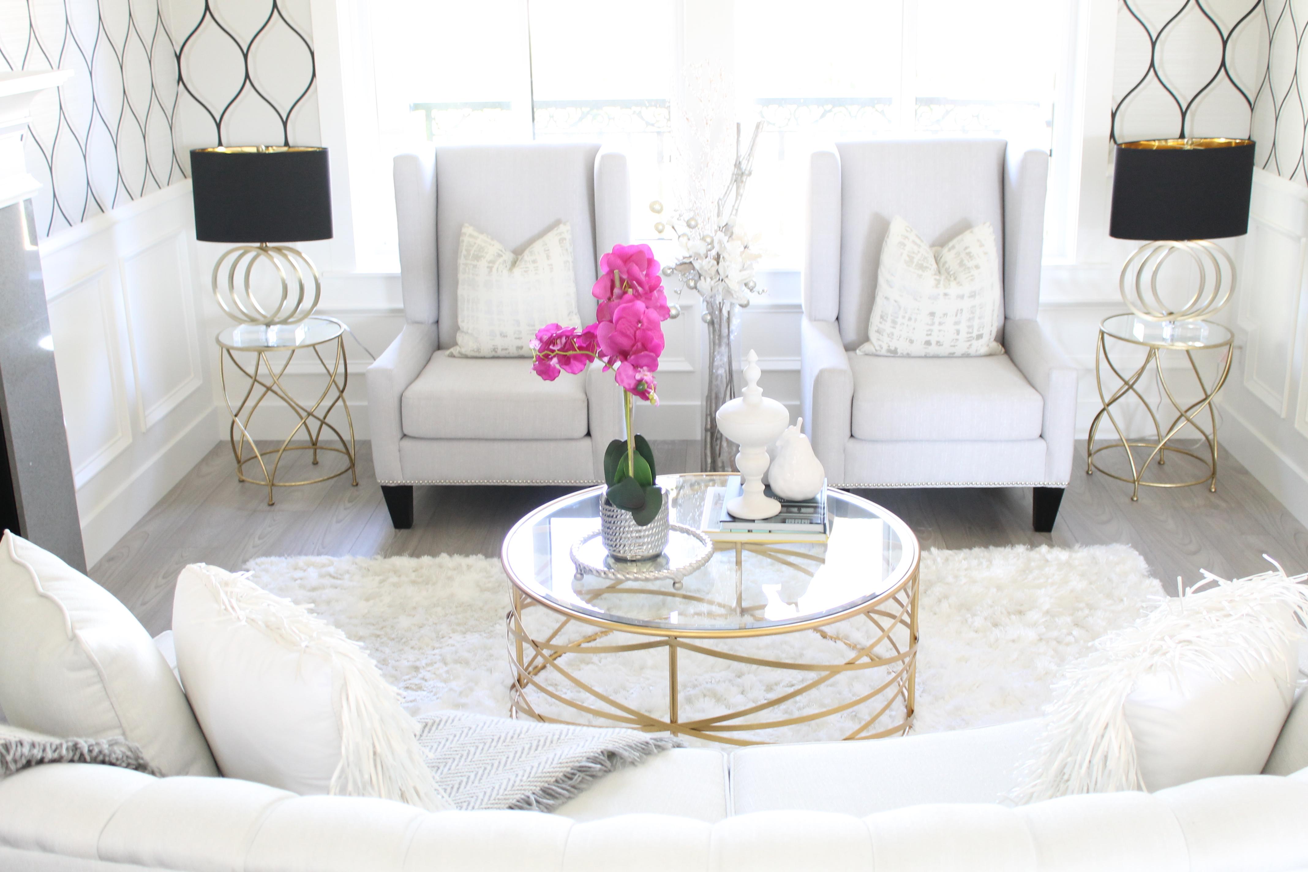 Glamorous Living – Formal Living Room Reveal