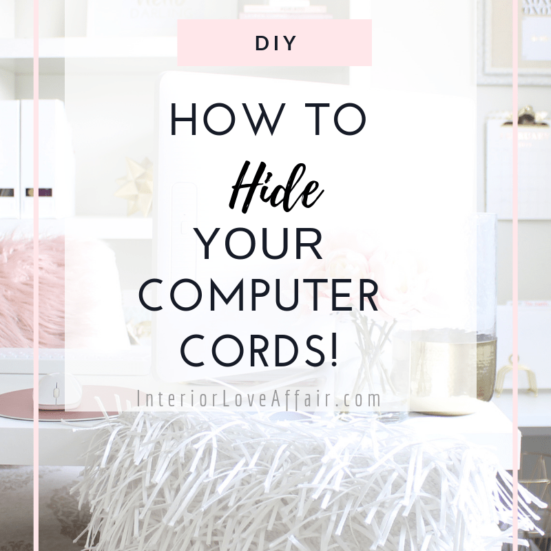 how to hide your computer cords