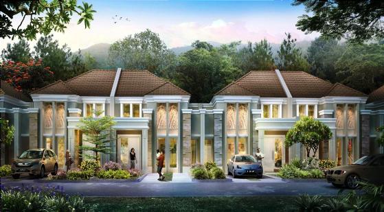 Rumah Minimalis Modern Bergaya Kopel Art Deco Tipe 88 70 58