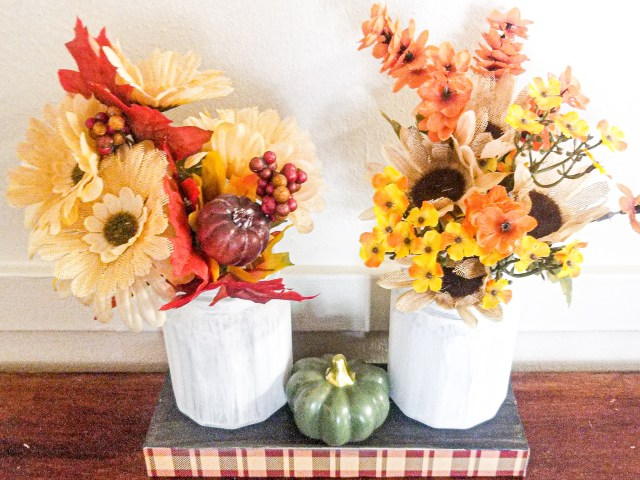 fall floral table centerpiece