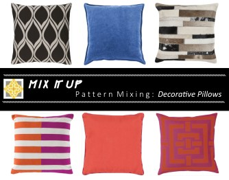 How to Mix Patterns with Decorative Pillows