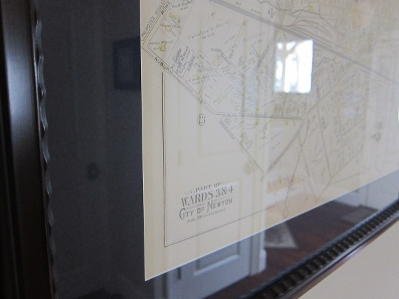 Close-up of 1895 Map of Auburndale/West Newton, MA