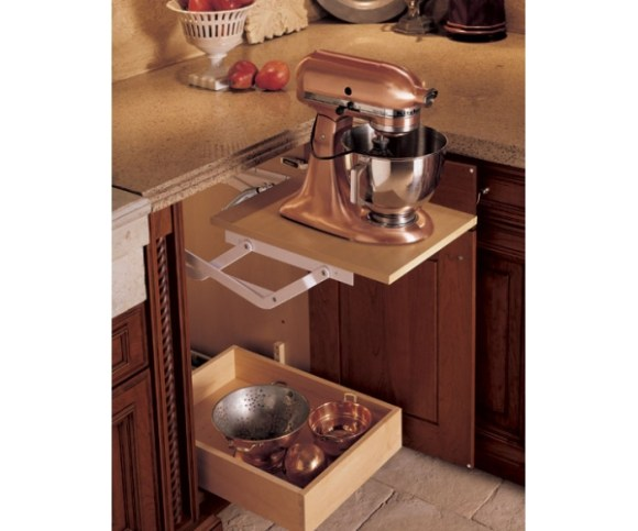 Wood-Mode Mixer Cabinet Feature