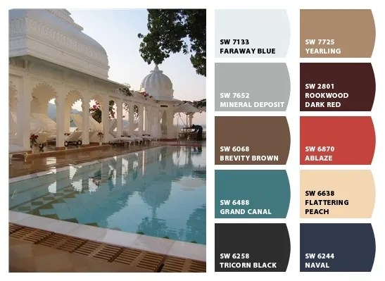 Udaipur Lake Palace color palette