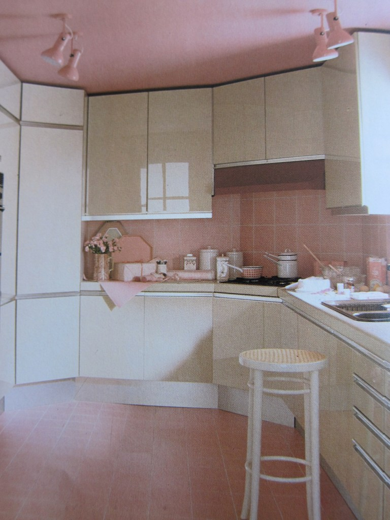 Pink Kitchen from 1980s