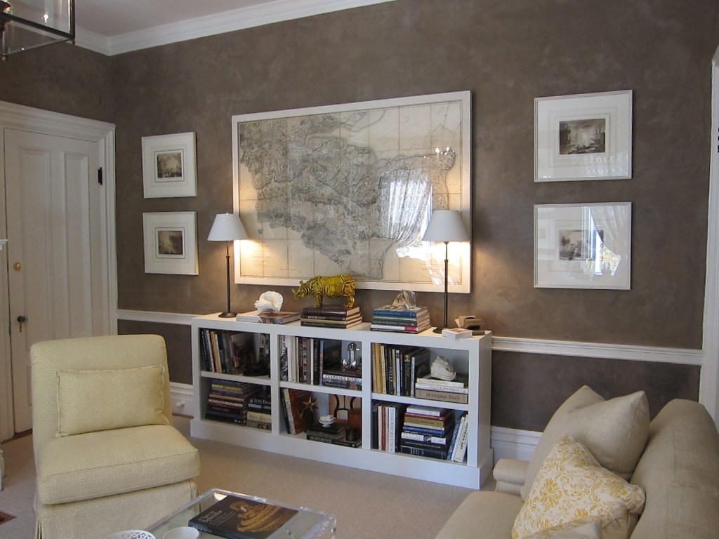 Map & Bookcase in Frank's Study