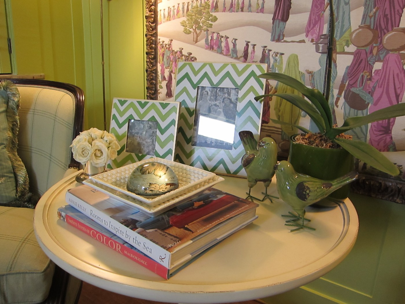 Green Room Table Vignette