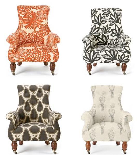 Anthropologie Patterned Chairs