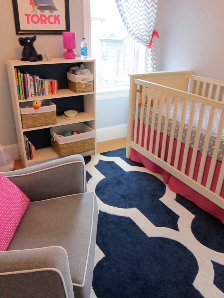 Medallion Rug in Geometric Baby Girl Nursery