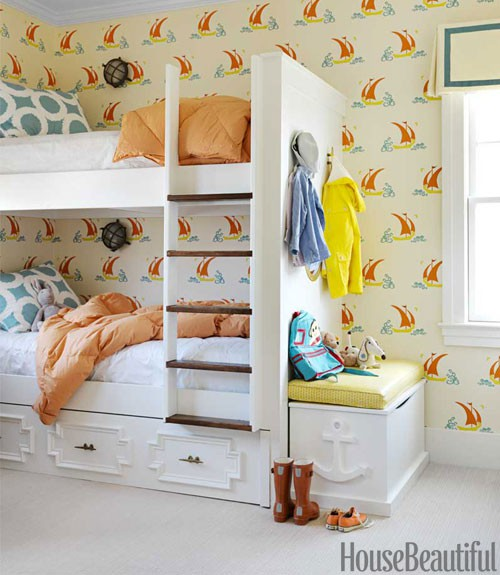 Mona Ross Berman Kids Room w/ Bunk Beds